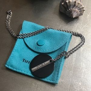 TIFFANY & CO. STERLING/TITANIUM NECKLACE